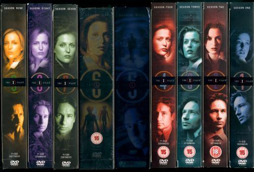 All X-Files season boxes