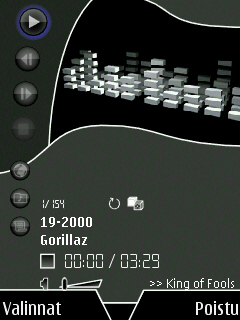 Music Player on Pearl Black theme