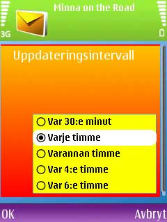Email settings in Swedish