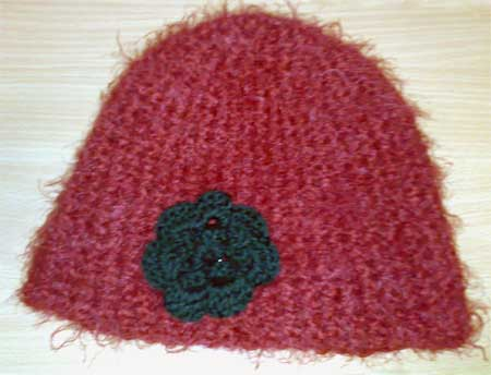 Hat with a flower